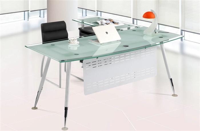 Mesa despacho cristal acre 160 80 cisa equipamiento de edificios - Mesas de despacho de cristal ...