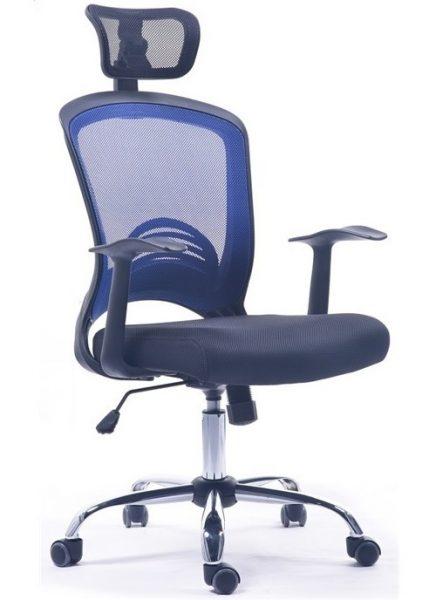 Silla de oficina moderna baviera azul negro