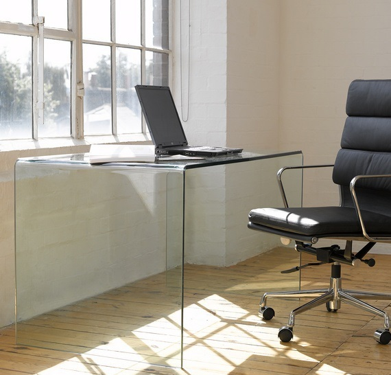 Mesa despacho cristal concord 120x70 cisa equipamiento for Mesa cristal oficina