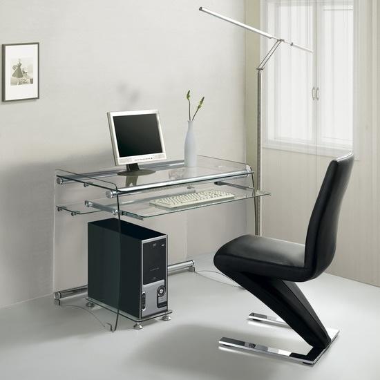 Mesa ordenador cristal gyor cisa equipamiento de edificios for Mesas de ordenador de diseno