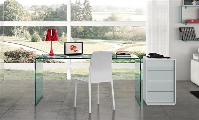 Mesa despacho cristal concord cisa equipamiento de edificios - Mesas de despacho de cristal ...