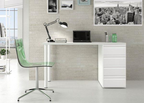 Mesas de trabajo para oficinas cisa equipamiento de edificios - Mesa escritorio con cajones ...