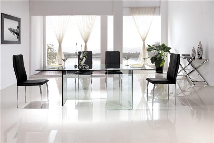 Mesas de trabajo para oficinas cisa equipamiento de for Mesa cristal oficina