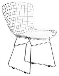 silla bert cojin blanco