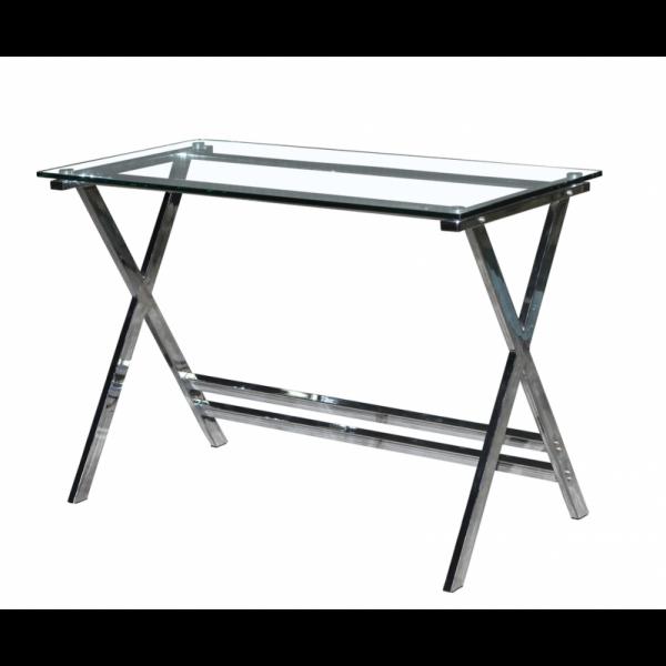 mesa-lainey-acero-inoxidable-cristal-140-x-80-cms