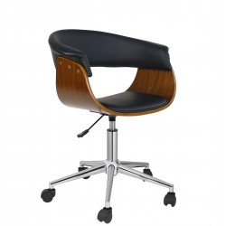 sillon-munich-giratorio-madera-nogal-similpiel-negra